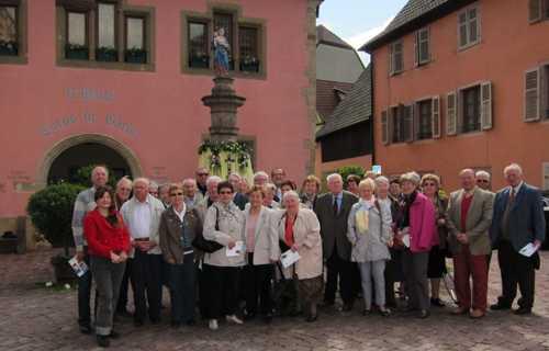 Le groupe des excursionnistes à Turckheim.