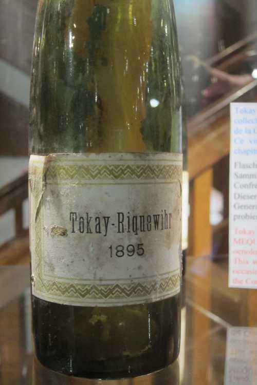 Une bouteille de Tokay de 1895.