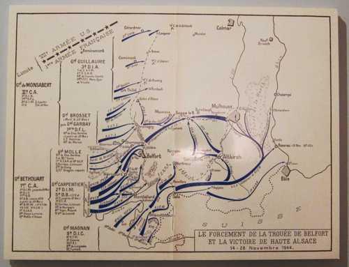 L'offensive de la 1ère Armée française, lancée le 14 novembre pour entrer en Alsace par le sud.