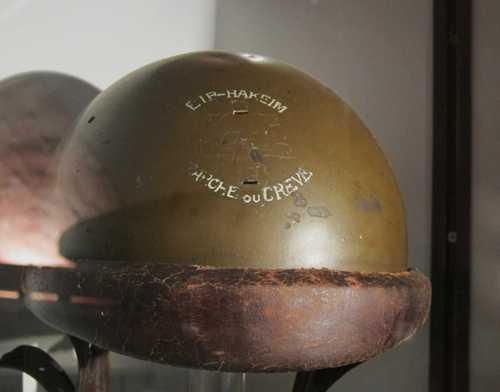 Un casque français modèle 35, porté par la Brigade Languedoc-Roussillon, ex maquis Bir-Hakeim. Suite au débarquement de Provence, un certain nombre de maquisars se sont engagés dans la 1ère Armée française.