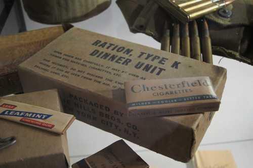 La ration K, en usage dans l'armée américaine et dans la 1ère Armée Française, équipée en matériel américain.