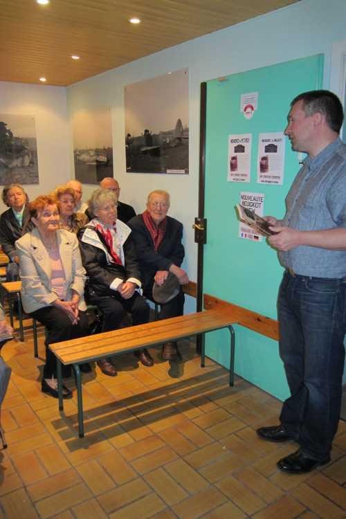 La visite s'acheva par la projection d'un petit film tourné en 1945 sur la libération de l'Alsace.