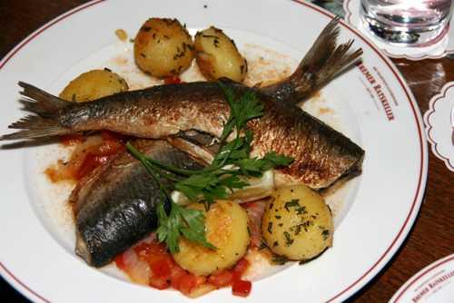 Un plat typique servi à Brême...du poisson.