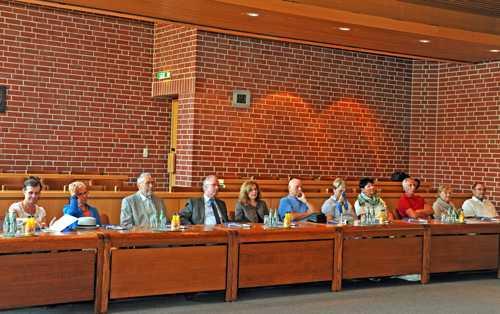 Dans la salle du conseil municipal du Rathaus