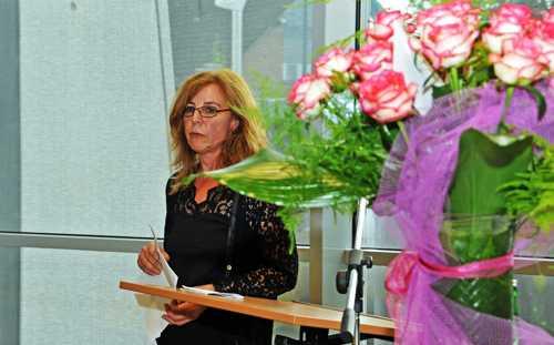 Le discours de la directrice de l'IML, Ulrike Hagenmeier.