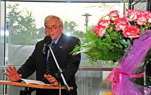 Benno Dräger retraça l'histoire du Musée, née en 1988 et qui intégra les locaux actuels en l'an 2000.