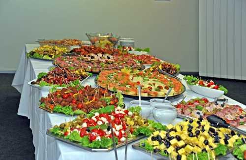 L'excellent buffet servi au cours de la soirée.