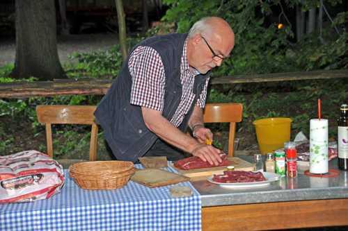 La préparation de la viande.