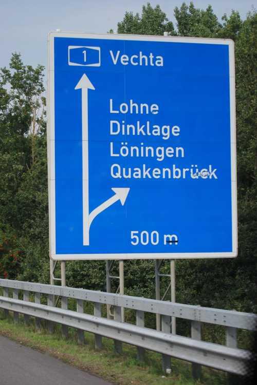 Partis vers 7h15 de Rixheim, nous découvrons la destinantion Lohne vers 16h00.