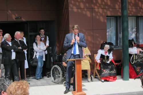 Le maire Olivier Becht dans son discours s'est montré préoccupé par le futur financement de la dépendance.