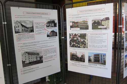 L'exposition sur l'histoire de l'hôpital, réalisée par la Société d'Histoire de Rixheim, est visible au rez-de-chaussée de l'Arche