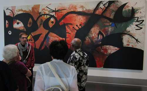 """""""Personnages et oiseaux dans la nuit"""" (1974) de Joan Miro (1893-1983)."""