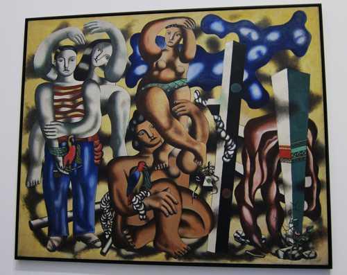 """""""La composition aux deux perroquets"""" (1935-39), une oeuvre de Fernand Légéer"""