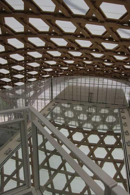 La toiture, une réelle prouesse architecturale.