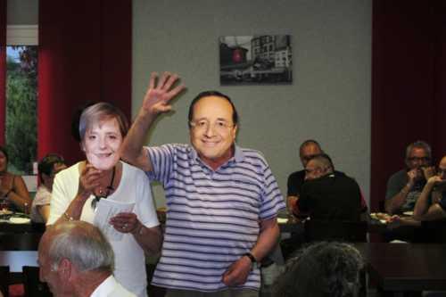 Elle invita même notre Président, le bon François...