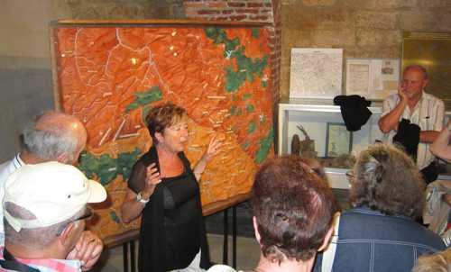 Notre guide nous expliqua l'histoire du fort de Vaux.