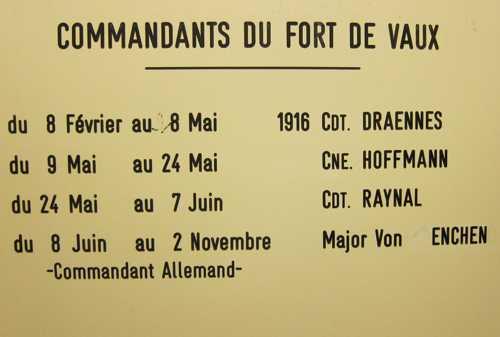 Les différents commandants du fort.