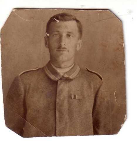 Dominique Richert, soldat au 4. Badisches Infanterie Regiment qui connut son baptême du feu à Rixheim, le 9 août 1914.