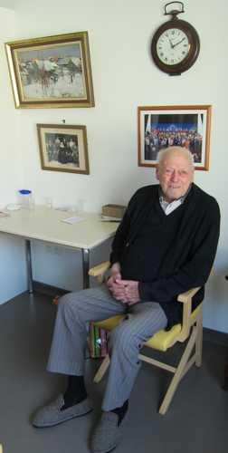 Joseph Sutter, né en 1908, pensionnaire de l'EHPAD Saint Sébastien depuis 2012, a fêté en 2015 ses 107 ans.