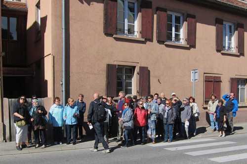 38 personnes, un record de participation pour la visite du Vieux-Rixheim.