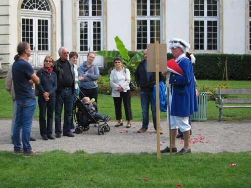 Yves Schlienger développe l'histoire du Parc et Philippe Wolff présenta l'aspect botanique.