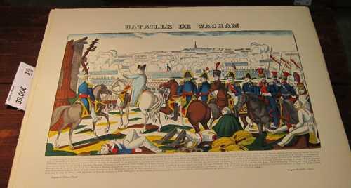 Une des images du culte napoléonien: la victoire de Wagram, en vente à la boutique.