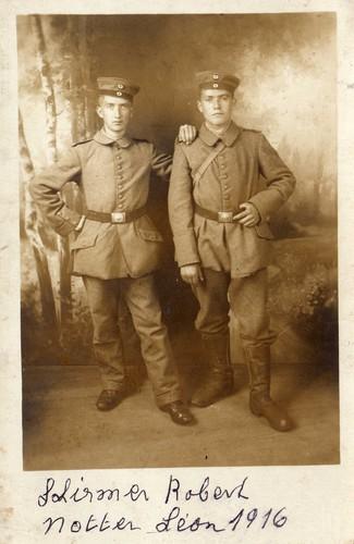 Léon Notter et son ami Robert Schirmer.