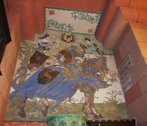 L'imposant chevalier de la famille des Thierstein peint par Léo Schnug, des oeuvres qui exaltent la chevalerie.