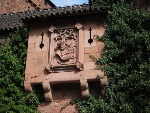 Le blason d'Oswald de Thierstein à qui les Habsbourgs gagèrent le château en 1479 et qui r