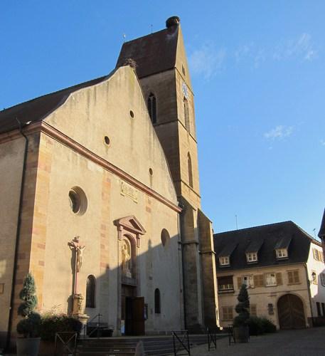 L'église Saint Pierre et Paul d'Eguisheim.