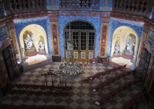 "La ""sala terrana"", la salle de plein-pied sert aujourd'hui de salle de concert"