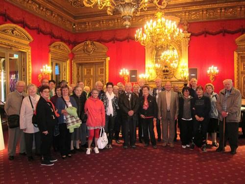 Dans le salon rouge Louis XIV du casino de Baden-Baden.