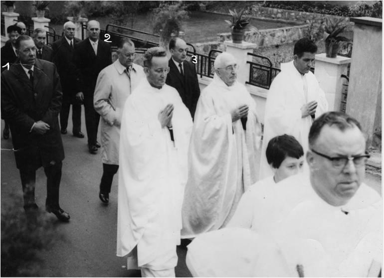 Le jubilé sacerdotal de Georhges Struchler à Rixheim, le 6 octobre 1968, pour ses 25 ans de prêtrise.