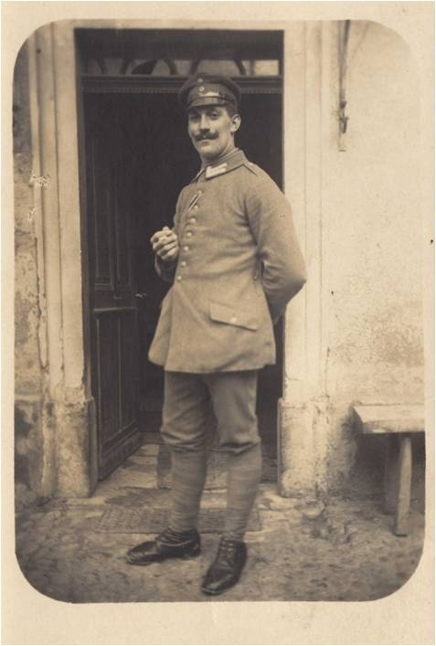 Léon Reymann, lors d'une permission à Rixheim.