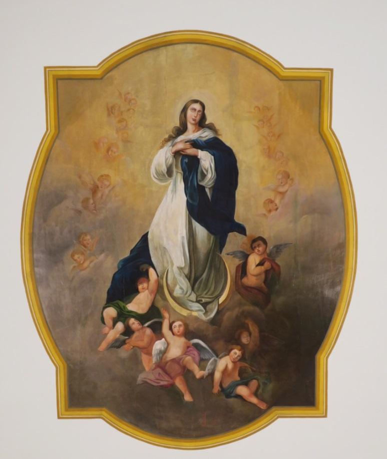 La nef est orné d'une peinture de Jost Troxler (1827-1893) représentant l'Assomption de la Vierge. L'auteur s'est inspiré du célèvre tavleau de la'rtiste espagnol Esteban Murillo (1618-1682).