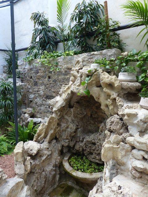 La rocaille dans la partie ouest de la serre.