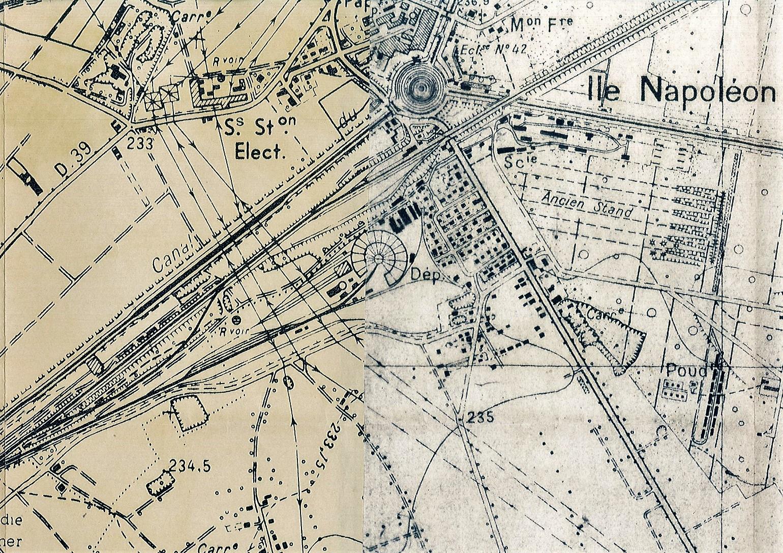 Le quartier de l'Ile Napoléon, tel que l'a connu Eugène Steinmetz.