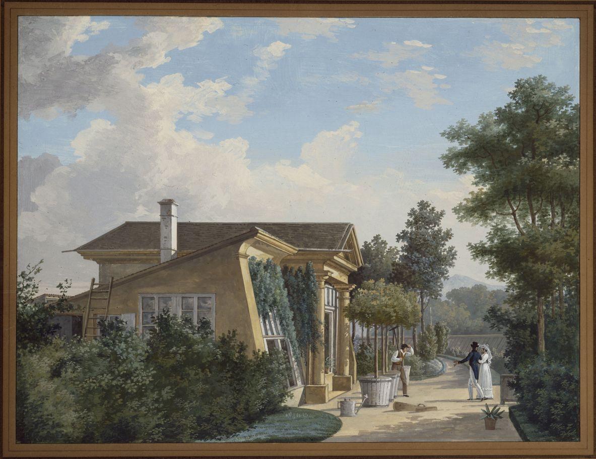 Les serres en 1852 (tableau de Ch. Schlumberger)