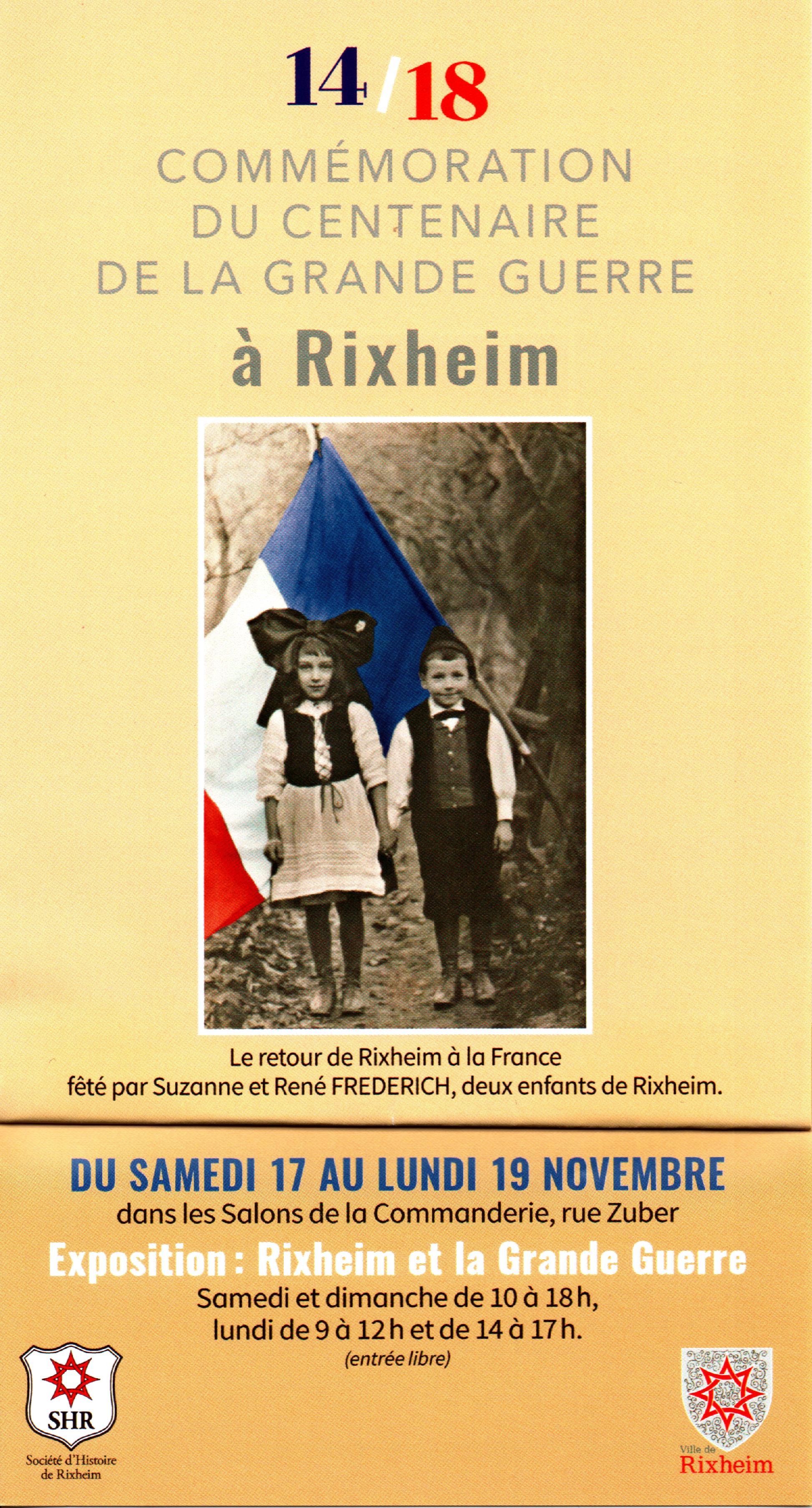 Exposition Rixheim et la Grande Guerre